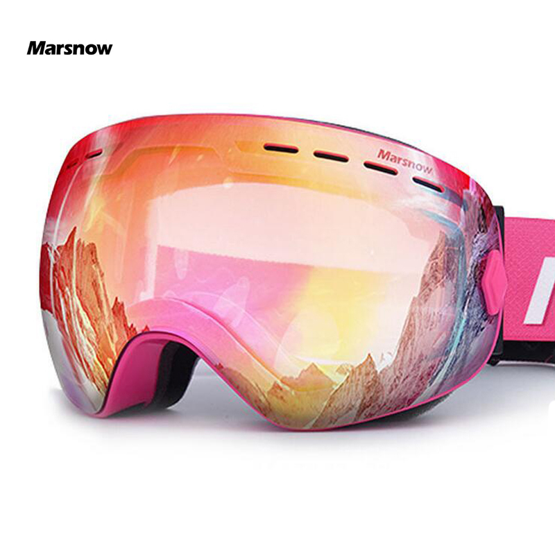 Marsnow Ski Goggles Double UV400 Anti-Fog Ski Lens Mask Glasses Skiing Men Women Children Kids Boy Girl Snow Snowboard Goggles