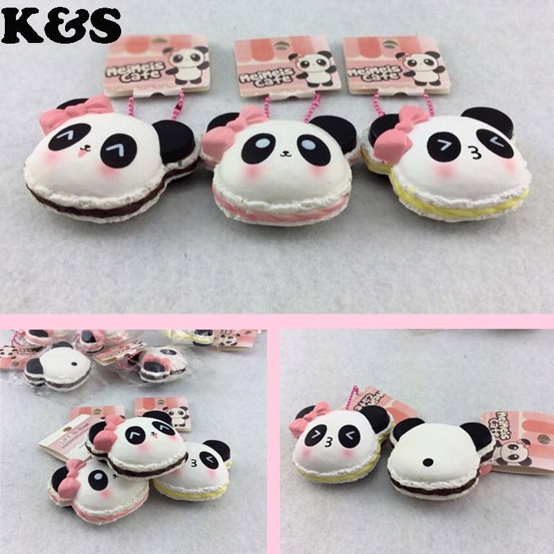 2015 Kawaii Squishy Panda Macaroon Buns Pancake Cute Squishies Wholesale 12 pcs/lot Mobile Phone ...