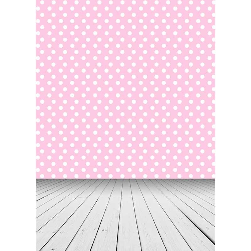 12ft Vinyl print white pink polka dots photography backdrop for photo studio portrait backgrounds photographic props F-1527 light pink white polka dots one piece petti dress with white posh feather malp27