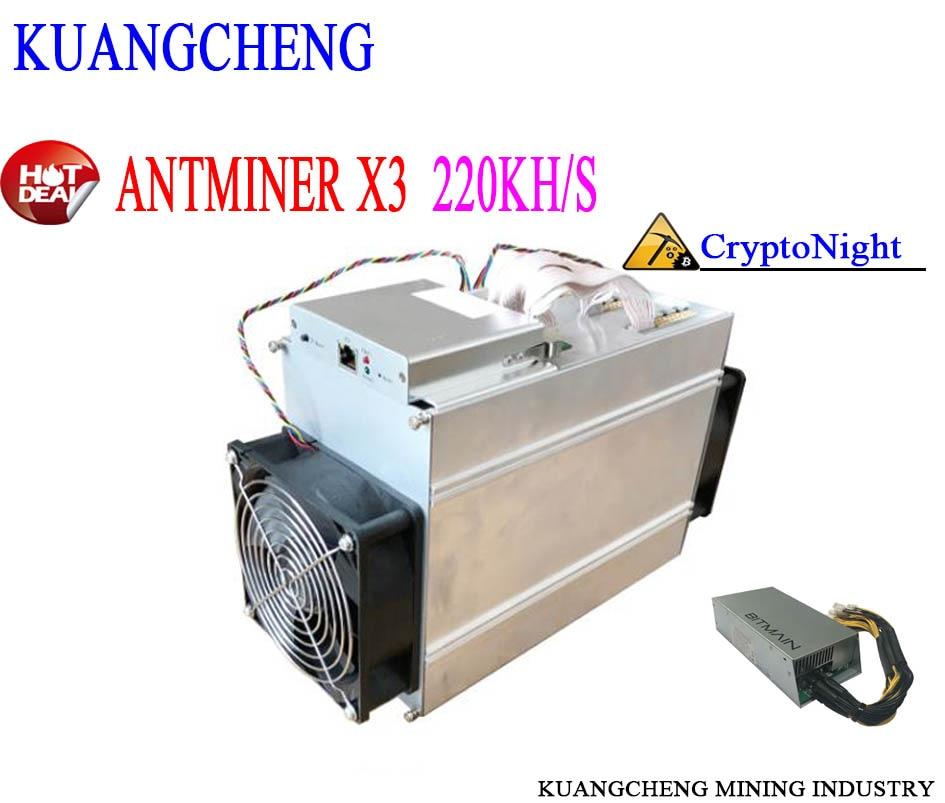 Usde 80% New Antminer Minert Old  Bitcoin CryptoNight Miner Antminer X3 220 KH/S CryptoNight ASIC Miner ETN XMC DCY BCN