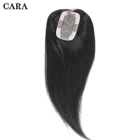 Clip In Toupee Hair For Women Straight Brazilian Virgin Hair 2.5x4 inch 1 Piece Human Hair Natural Color Free Shipping CARA