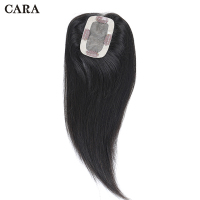 Clip In Toupee Hair For Women Straight Brazilian Virgin Hair 2.5x4 inch 1 Piece Human Hair Natural Color Free Shipping CARA