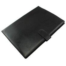 BLELร้อนA4ซิปโฟลเดอร์การประชุมธุรกิจหนังFauxเอกสารOrganizer Portfolioสีดำ