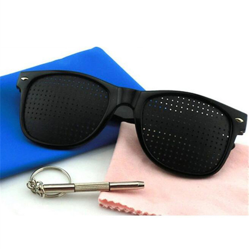Anti-fatigue Pinhole Glasses Men Anti Myopia Vision Spectacles Eyesight Improver Pin Hole Eyes Training Exercise Glasses Frame
