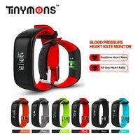 P1 Bluetooth Smart band Blood Pressure Monitor Heart Rate Wristband Waterproof IP67 Smartband pk xiao mi band 2 mi band zeband