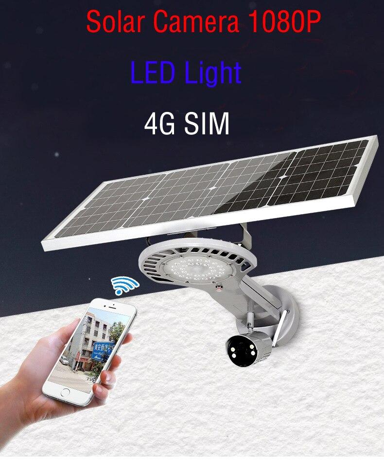 Yobang безопасности солнечной Мощность 4G SIM видеонаблюдения Беспроводной Водонепроницаемый Открытый 1080 P 2,0 м CCTV Камера PIR светодио дный свет л...