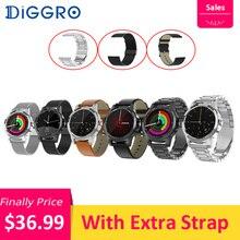 Diggro DI03 плюс Смарт часы Bluetooth водонепроницаемый монитор сердечного ритма во время сна шагомер 320 мАч умные часы с дополнительный ремень