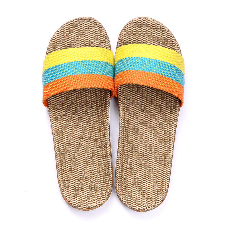 2017 Fashion Summer Home Slippers  Indoor Floor Shoes Men Women Lovers Breathable Casual Floor Slippers linum WS203 vanled 2017 new fashion spring summer autumn 5 colors home plush slippers women indoor floor flat shoes free shipping