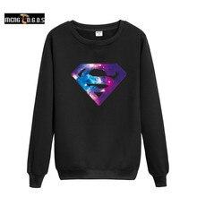 MENGD. G. O. Выстрел!! супермен Логотип 2XL Harajuku Толстовка в Бэтмен Super Man Мужские Толстовки и Толстовки Хип-Хоп Мальчиков Пар