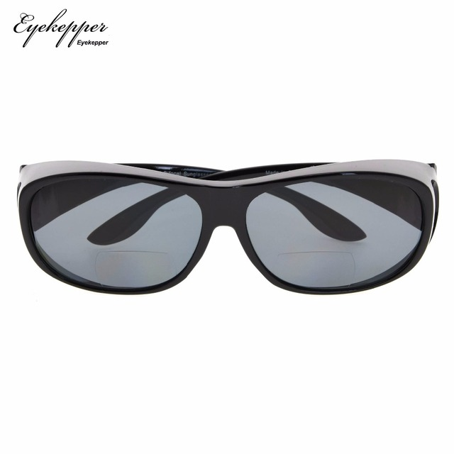 bcf18e0143 S029PGSG Eyekepper Fitover polarizado gafas de sol Bifocal para usar sobre  gafas regulares policarbonato polarizado lentes