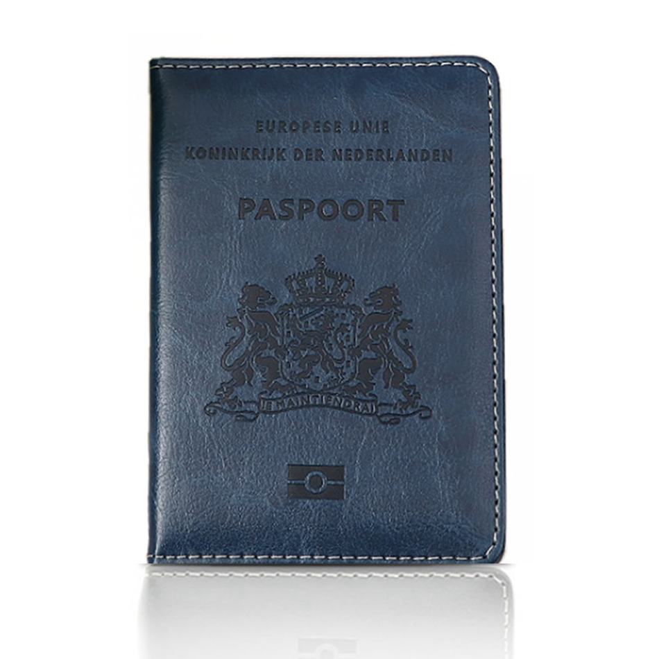 Travel Accessories PU Leather Netherlands Passport Holder Cover Function Storage Organizer ID Card Case Busines Credit Wallet travel passport cover wallet travel multi function credit card package trip id holder storage organize clutch money bag h 125