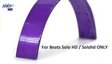 NSEN Reemplazo Top Diadema Cojines Cojín de Piezas de Reparación para Beats solo HD Con Conexión de Cable En la Oreja los Auriculares (Púrpura)
