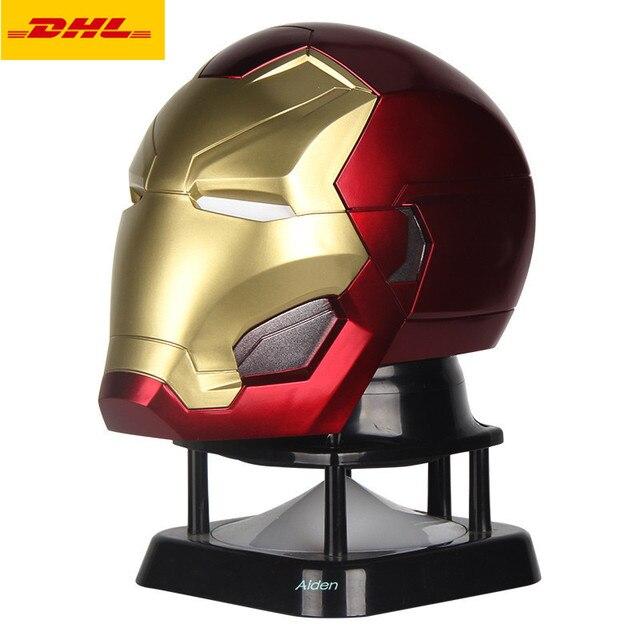 "6 estátua ""The Avengers Homem De Ferro Soldados Stormtrooper Preto Mini Áudio Capacete PVC Action Figure Collectible Modelo Toy 16 CM B448"