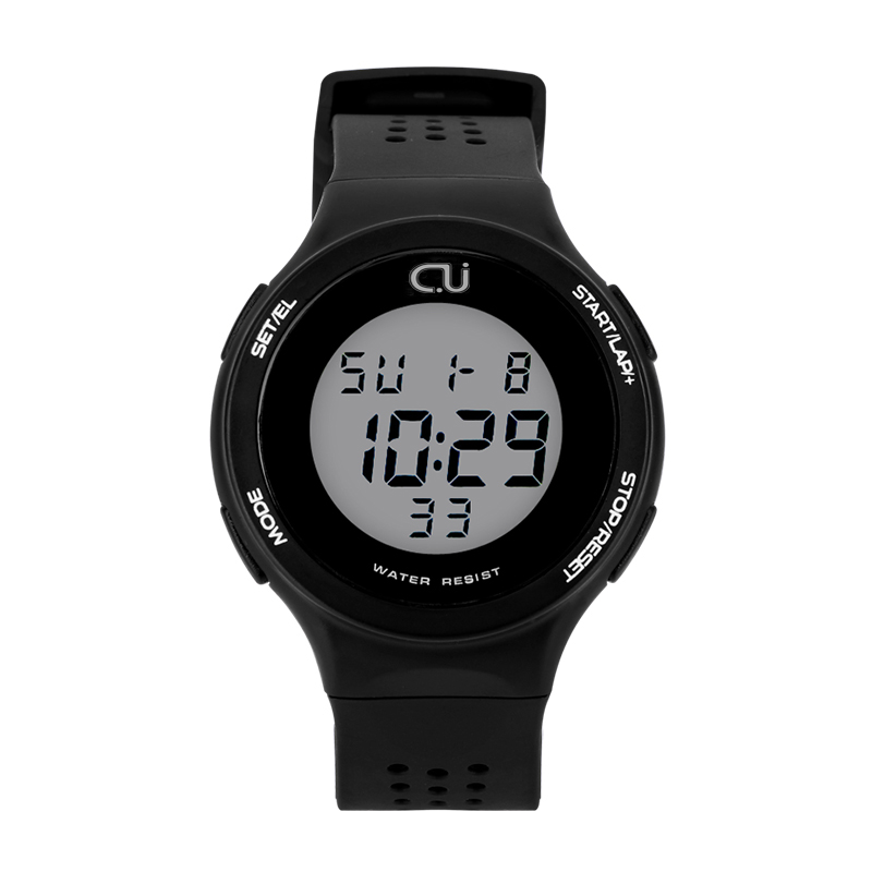 Fashion CU Brand Sports Watch Alarm Military Digital LED Watches For Men and Women Multifunctional Casual Wristwatches 1014# цена 2017