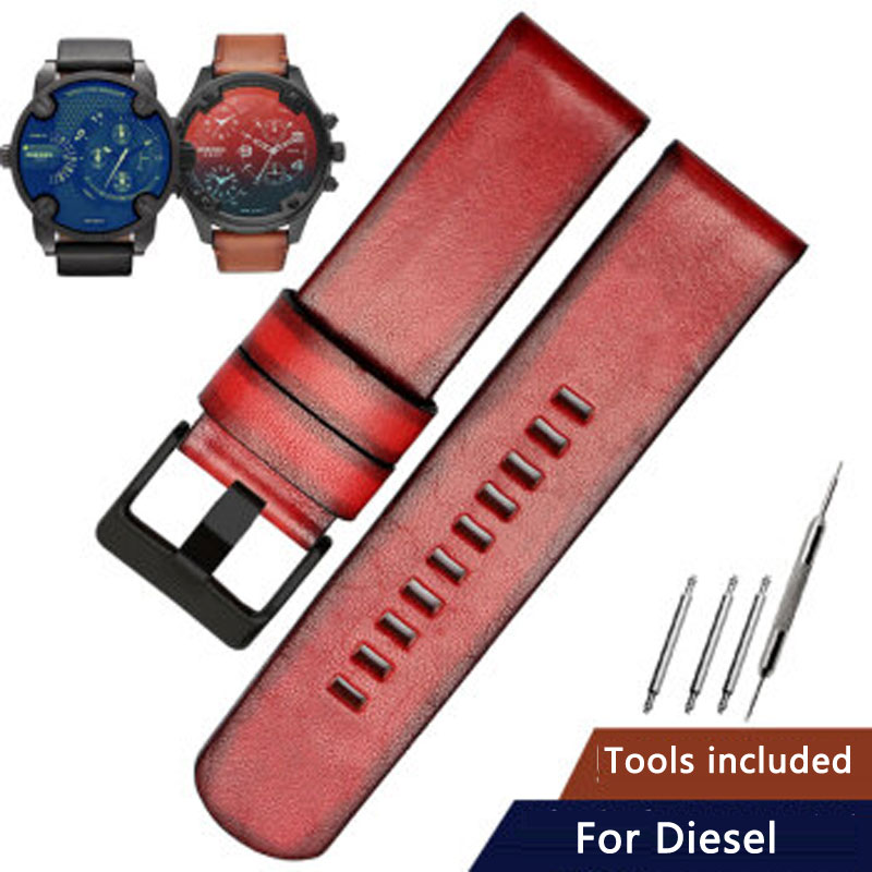 Замена для дизельных часов с кожаным ремешком D4318 DZ7406 DZ7257 DZ1657 винтажная серия 24 мм 22 мм кожаный ремешок для часов
