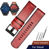Replacement for Diesel leather watch belt D4318 DZ7406 DZ7257 DZ1657 vintage series 24mm 22mm leather watch strap