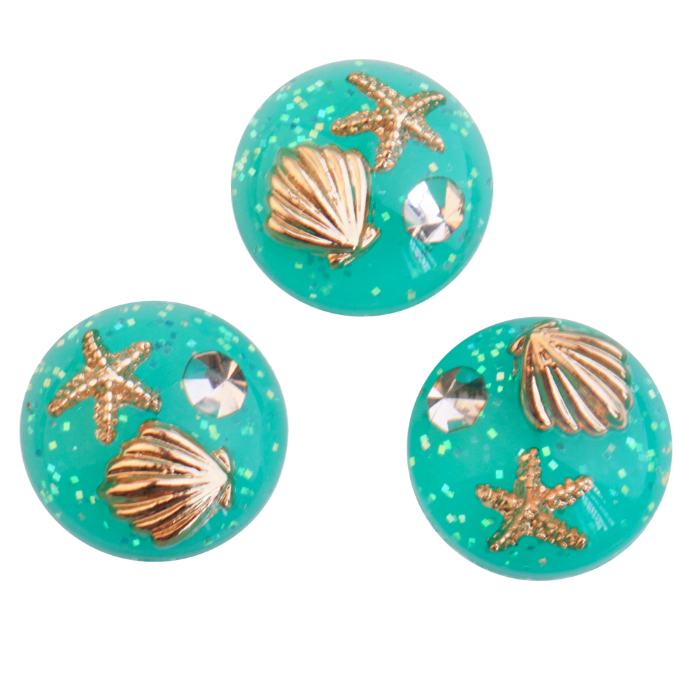 2pcs 20mm Resin filling natural Starfish Shell Pearl Round Cabochon&Dome Cover Pendant Cameo Settings,Diy Accessories