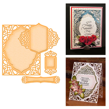 Eastshape Lace Frame Metal Cutting Dies Background Scrapbooking Making Wedding Invitations Decorative Embossing Crafts Stencils