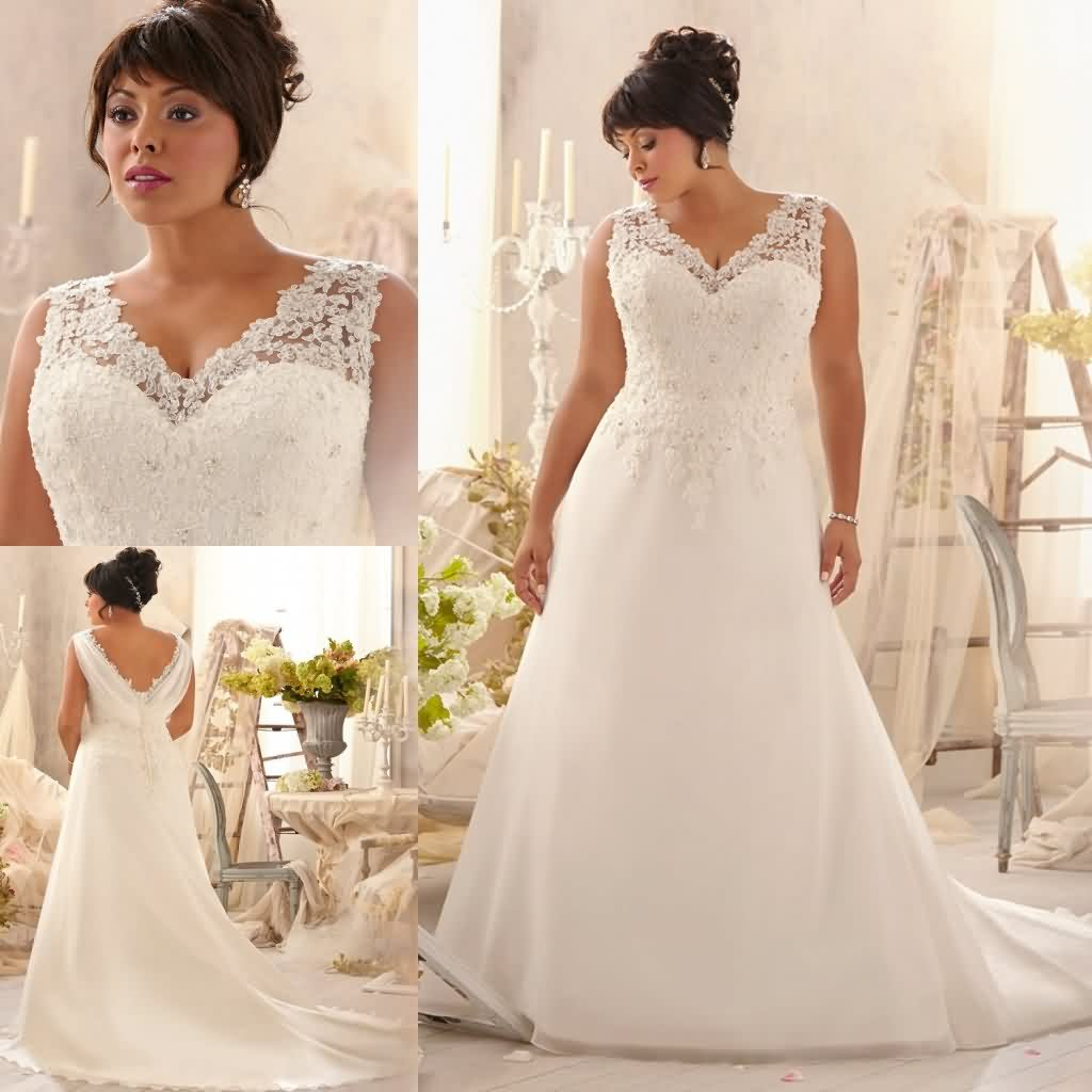 Wedding dress cleaning picture more detailed picture about v v neck lace applique ivory organza designer wedding dresses for large women plus size vestido ombrellifo Image collections