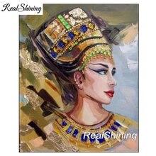 Nefertiti egypt queen,full Diamond Embroidery,Large,5d Diy Painting,Cross Stitch,Mosaic,pattern,Christmas gifts FS3216