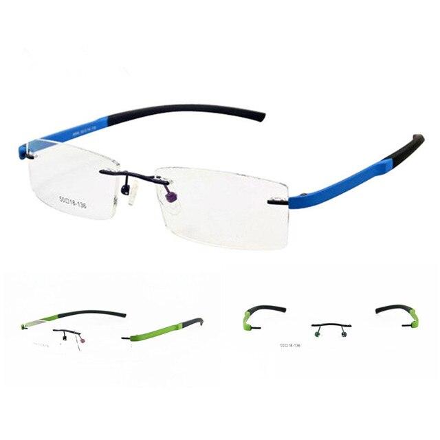 4efe1ec3d5 A ESTRENAR TR90 marcos de anteojos sin montura miopía Rx capaz hombres  mujeres ligero Unisex gafas