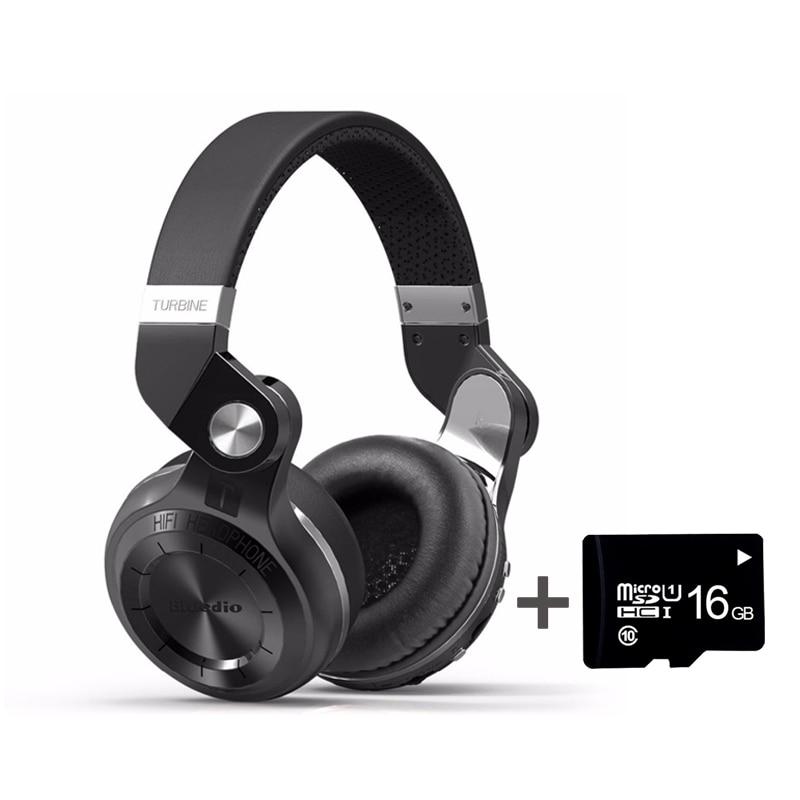 Sans fil Casque Bluedio T2 Plus MP3 Lecteur FM Radio Bluetooth Casque avec MIC 3.5 MM Connecteur