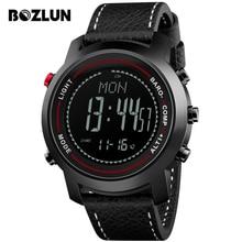 ФОТО bozlun outdoor smart watch pedometer calorie barometer waterproof digital men smartwatch wrist watches reloj inteligente mg03