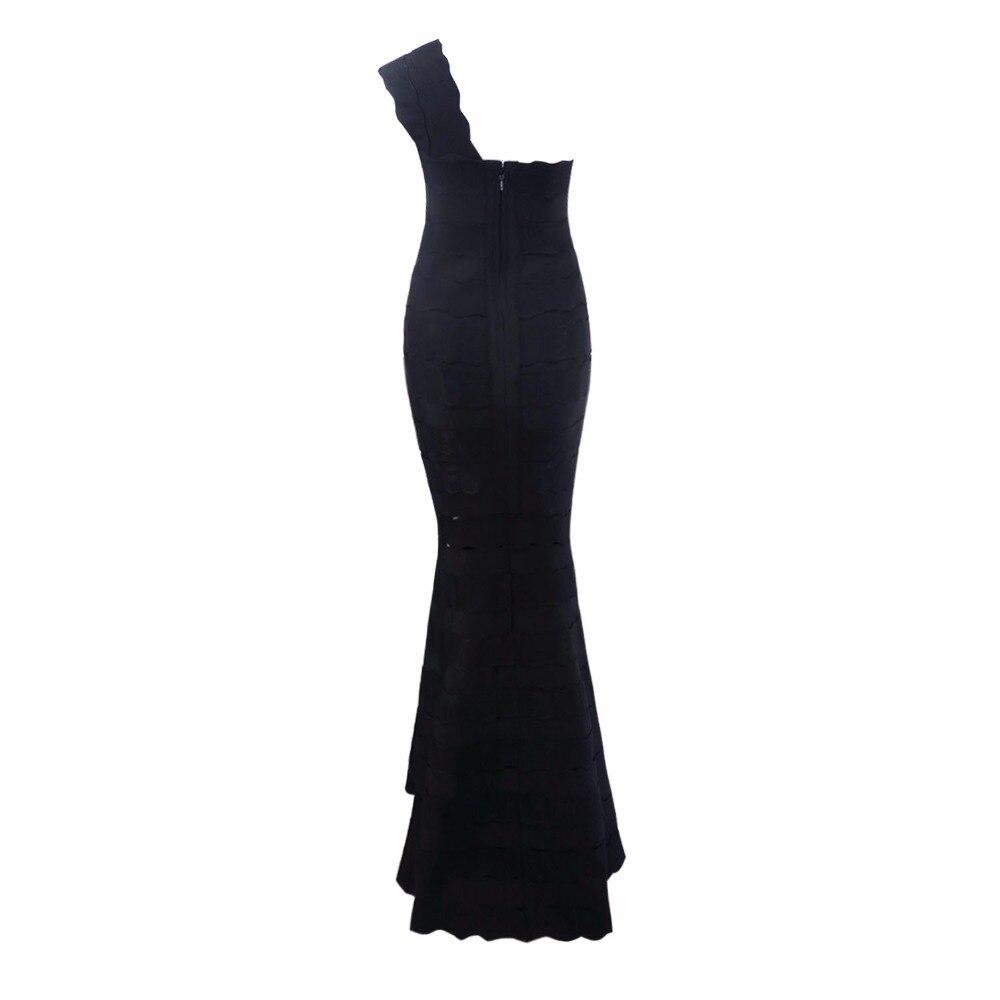 Bandage Jacquard Robe Épaule Noir Celebrity Robes Nouveau Élégant Party Maxi Sexy Beige 2017 Arrivent Évider Une FclJTK1