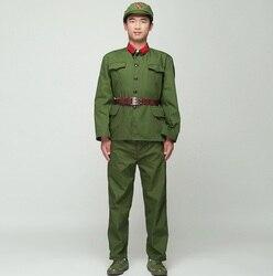 Corea del nord Soldato Uniforme Rosso guardie verde Vestito prestazioni costume di scena del film televisione Otto Armata Vietnam Militare