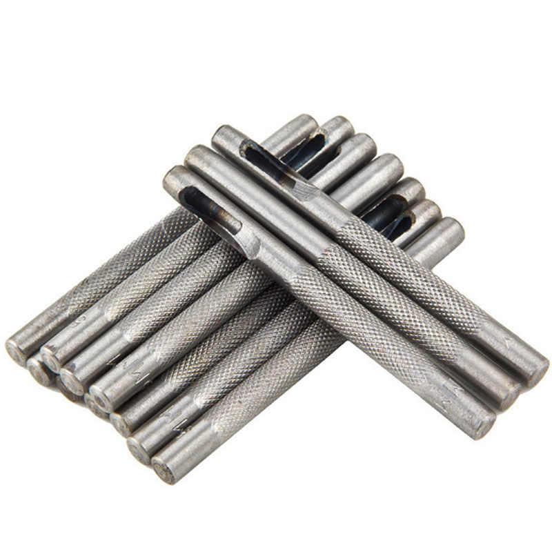 25 Размер Металл Кожа инструменты кожа удар кожевенное ремесло отверстие ремесло набор перфоратор ремень удар 1,0 мм-25 мм для одежды холст