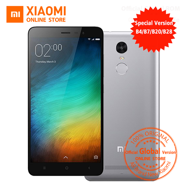 Official Global Version Xiaomi Redmi Note 3 3i pro prime special Edition  Mobile phone 5 5 Inch 3GB 32GB 16 0MP& B4 B20 B28 LTE-in Mobile Phones from
