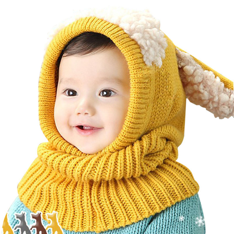 28 Styles Kids Winter Hats Girls Boys Children Crochet Warm Caps Scarf Set  Baby Bonnet Enfant Cartton Cute Hat for Girl Boy bb611fea4de