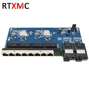 Image 2 - 2G8E 8UTP RJ45 Gigabit Ethernet Switch 2*1,25G Faser port SC stecker 8*10/100/100 0M PCBA Bord Fibra optische Konverter platte