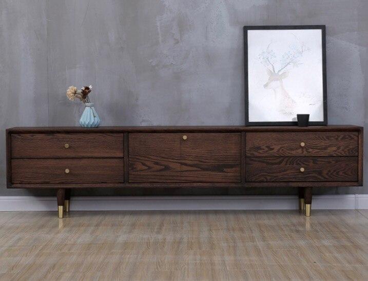 4PCS LOT H 12 5CM Walnut color log colored brass cabinet sofa feet legs Solid wood furniture foot accessories in Furniture Accessories from Furniture