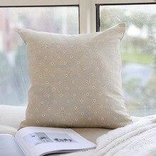 цены на Decorative Pillowcase Simple Flower Print Cotton Waist Square Pillow Case Cushion Cover Car Sofa Home Decor Dekoratif Yastklar  в интернет-магазинах