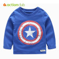 Actionclub Baby Boys Long Sleeve T-shirt  Kids Spring Tees Children Cotton Shirt Cartoon Print Top Clothing For Baby