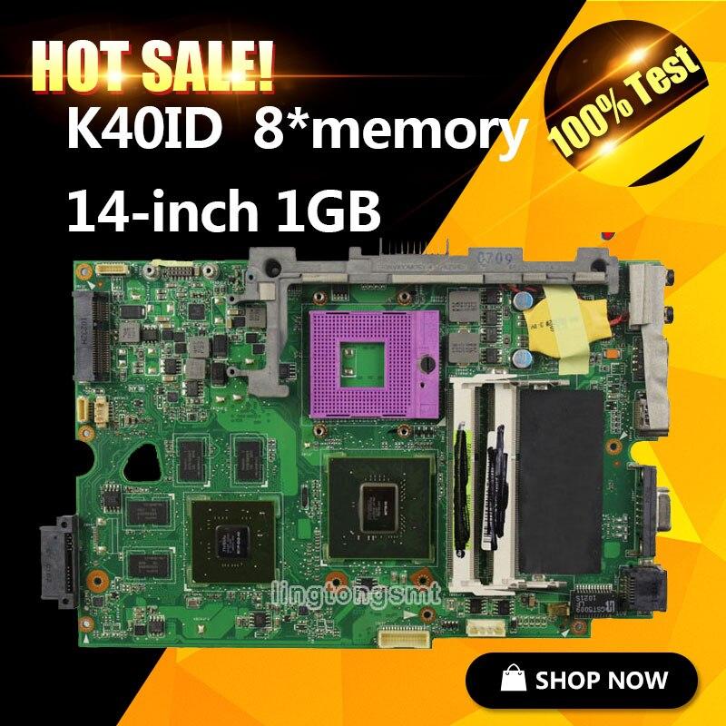 K40ID laptop motherboard for K40I K40IE X4D K40IE X8Al REV2.0 with 8*Memory 1GB 2DDR3 100% tested ryad mogador al madina ex lti al madina palace 4 агадир