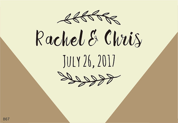 custom wedding calligraphy stamp