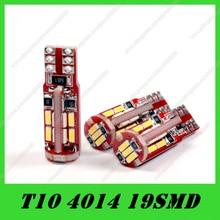 20pcs T10 canbus led 194 168 192 19led SMD4014 Canbus Error Free LED Car Auto Marker Parking Clearance Light Bulb Lamp DC12V