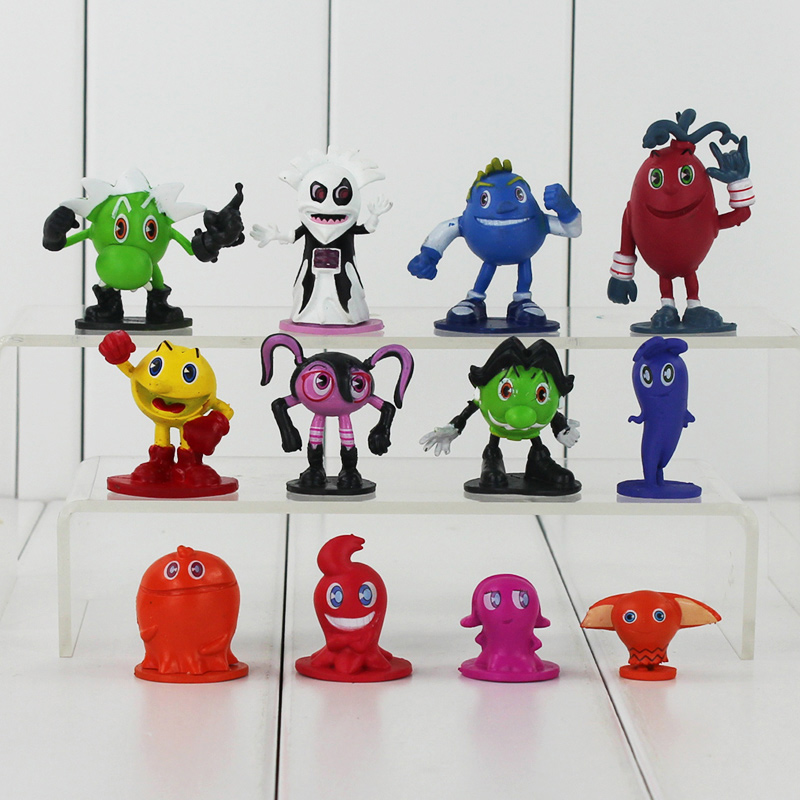 12pcs/lot New Pixels Moive Pac-man Ghostly Adventures Pvc Action Figure Pac Man Model Hot Toy Toys & Hobbies