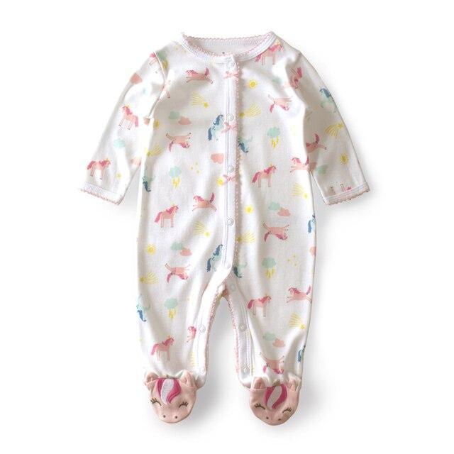 2287d356099f6 US $9.8 30% OFF|3 12 M Unicorn Baby Rompers lace Baby Girl Romper Newborn  Baby onesie kids costume bebek tulum one piece Unicorn baby clothes-in ...