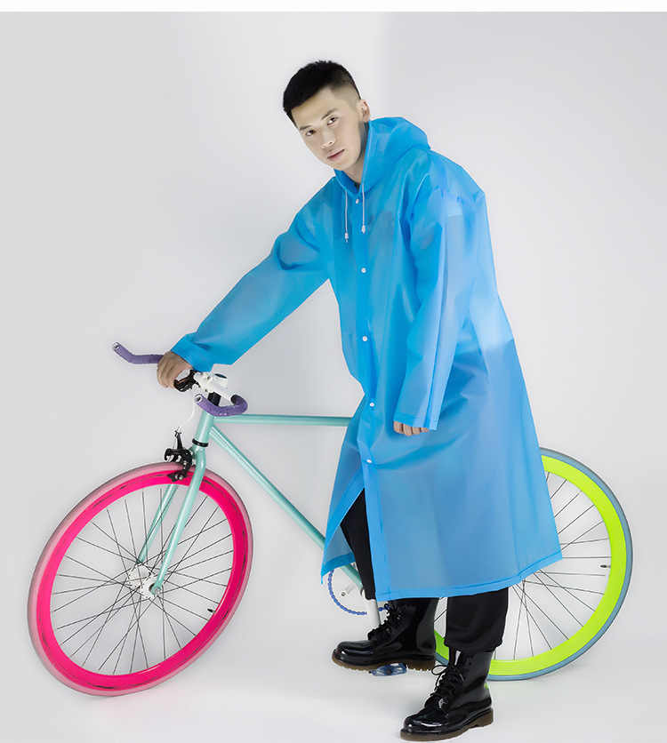 Fashion Adults Multicolor Siamesed Raincoats EVA Transparent Raincoat Poncho Portable Environmental Repeat Use Raincoats