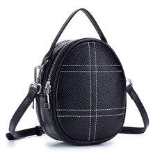 Women Bag Mini bag Phone Holder Sling Crossbody Ladies Small Bags for Circular Genuine Leather Pochette Femme Black