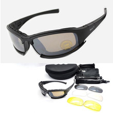Military Goggles Bullet-proof Army Polarized Sunglasses 4 Le