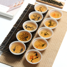 6 шт./лот, высококачественные китайские фарфоровые чайные чашки кунг-фу, китайский набор керамических чайников, сливы, орхидеи, бамбука и хризантемы, чайный сервиз