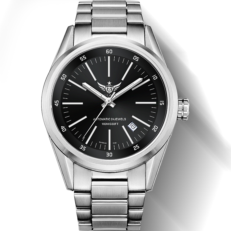 YELANG ใหม่มาถึง V1017 100 m กันน้ำ Super Long T25 ท่อแก๊ส Tritium Luminous Men นาฬิกาข้อมืออัตโนมัติ-ใน นาฬิกาข้อมือกลไก จาก นาฬิกาข้อมือ บน   1