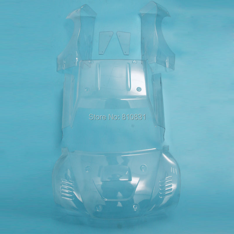 New clear body cover kit Set for RC Losi 5ive-T Rovan LT 5T QJ 4X4 Truck free shipping new cnc rear lower suspension set for losi 5ive t rovan lt