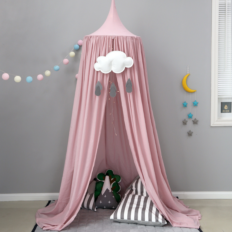 Baby Bed Mosquito Net Princess Dome Bed Child Tent Room Crib Netting Kid Bedding Round Dome Bed Mosquito Net Fabric Curtain