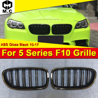 For BMW F10 F11 5 Series M5 style M Performance black Front Grille grill Pair With Badge 520i 525i 528i 530i 535i grills 2010 17