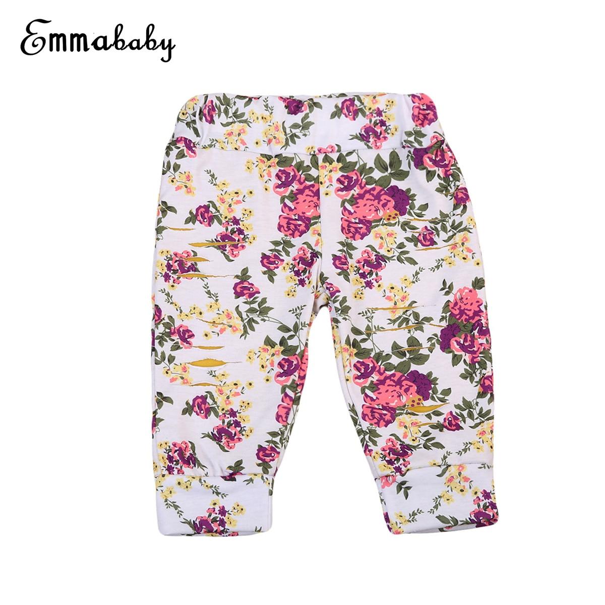 2017 Babys Mädchen Kleidung Kleinkind Kinder Baby Mädchen Floral Gedruckt Haremshose Hosen Leggings Kleidung